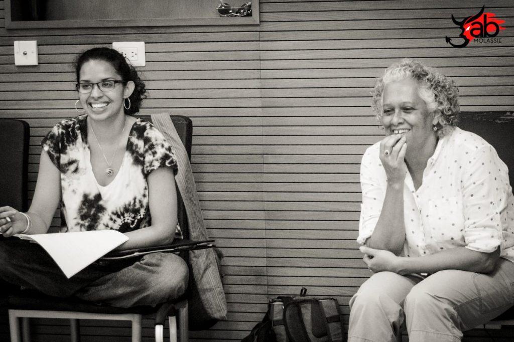 Patricia Cumper, Director of Jab Molassie (right) and Caroline Taylor, Assistant Director. Photo: Maria Nunes, Trinidad 2015