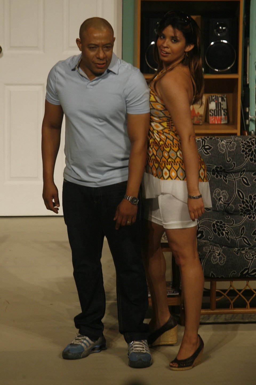 "Richard Ragoobarsingh and Caroline Taylor in ""Girls on the Side"" (Trinidad, 2011). Photo: David Wears"