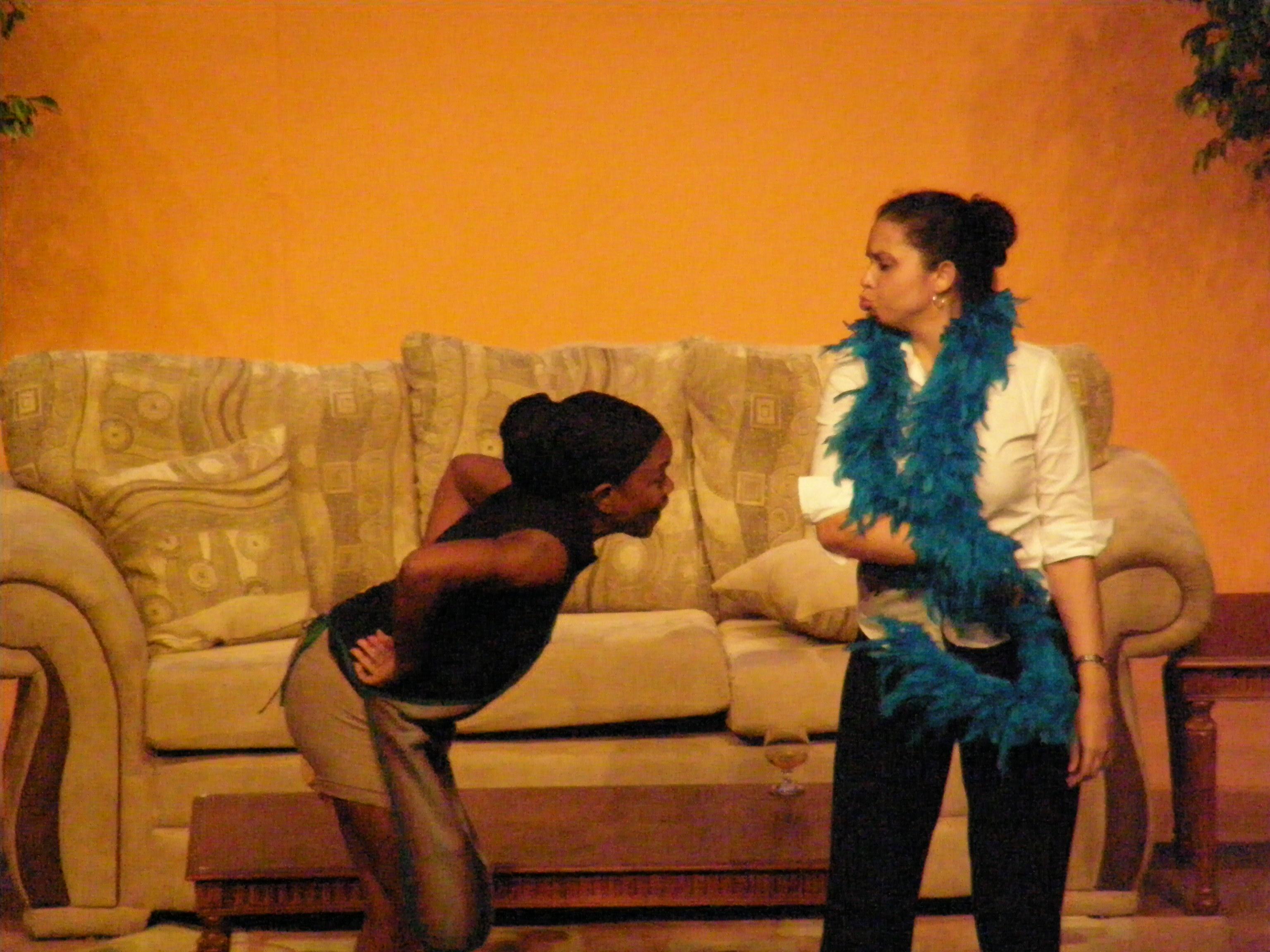 """Debra Boucaud-Mason and Caroline Taylor in """"Sex, Lies & Money"""" (Trinidad & Tobago, 2009)"""