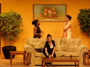 """Debra Boucaud-Mason, Cecilia Salazar and Caroline Taylor in """"Sex, Lies & Money"""" (Trinidad & Tobago, 2009)"""