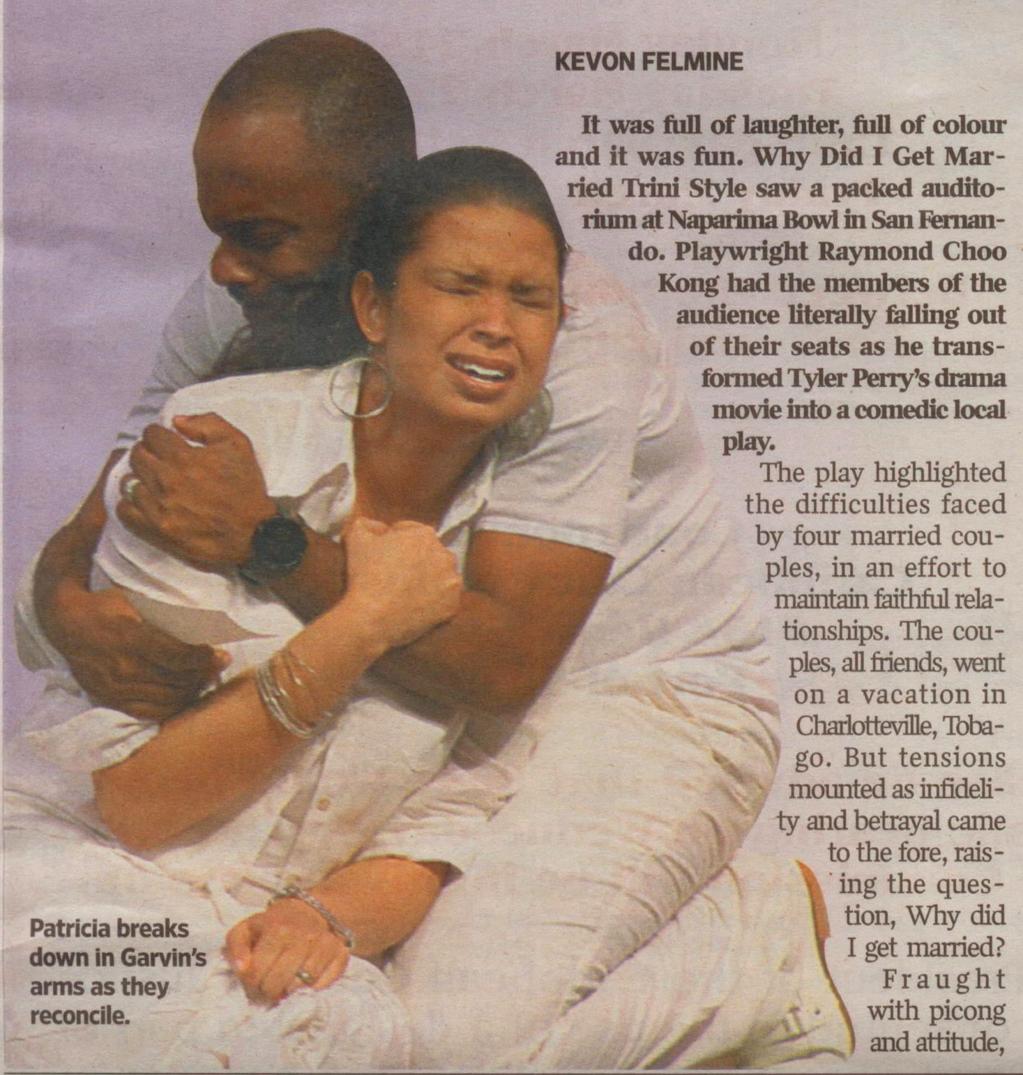 """Review of """"Why Did I Get Married?"""" directed by Raymond Choo Kong (2011), Trinidad & Tobago Guardian"""