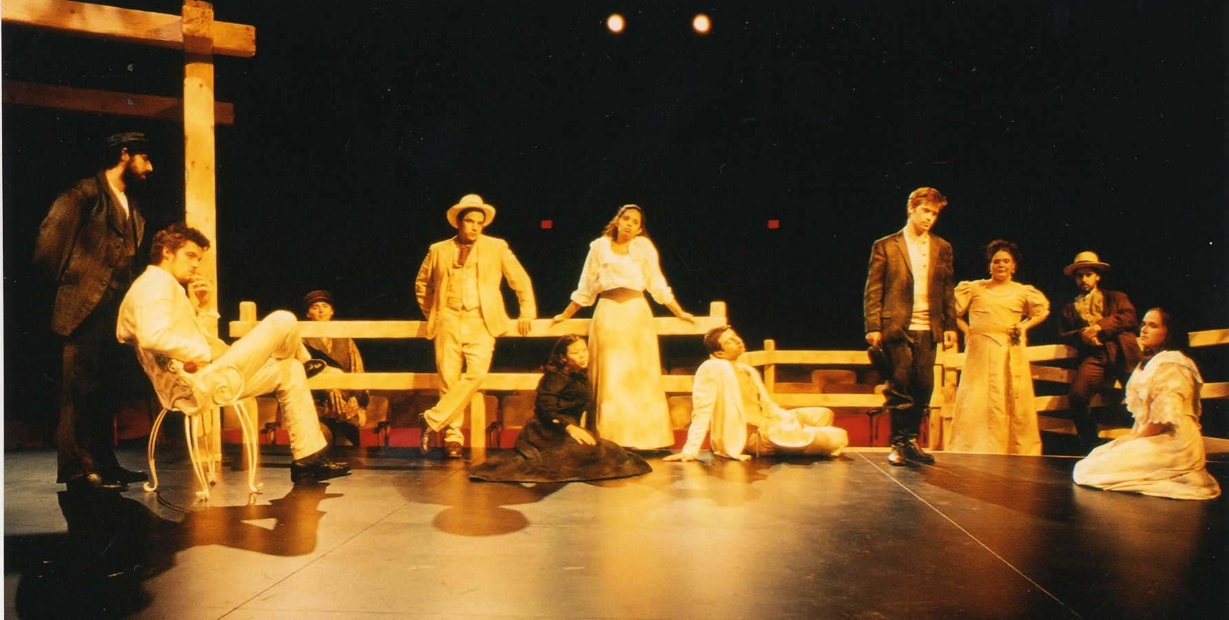 Caroline Taylor and cast of The Seagull