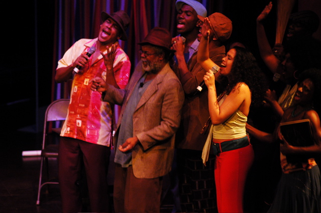 Caroline Taylor in the cast of the Brand New Lucky Diamond Horseshoe Club by Tony Hall and David Rudder (Trinidad, 2006)