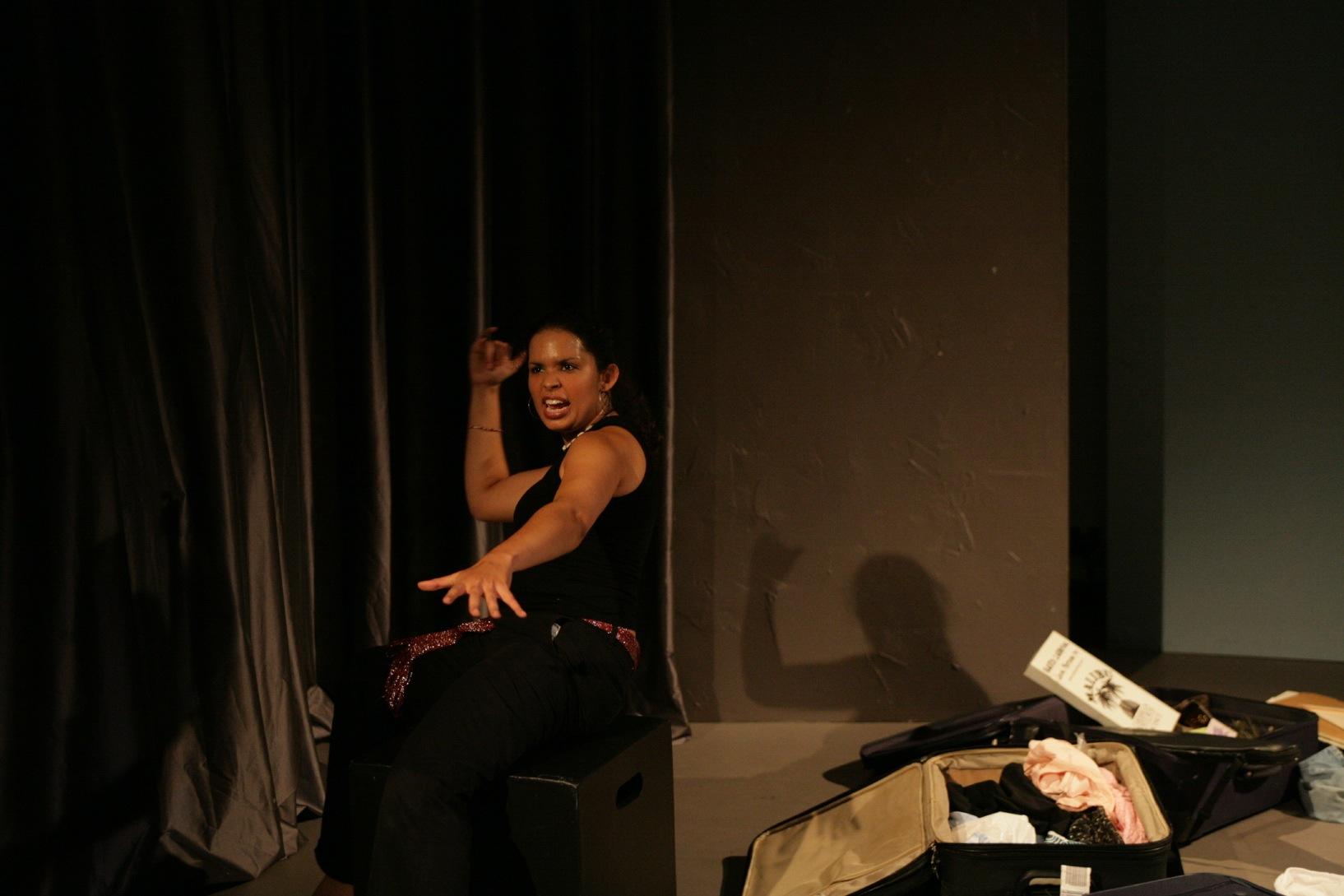Caroline Taylor in Pack Light (New York International Fringe Festival, USA, 2006). Photo: Dixie Sheridan