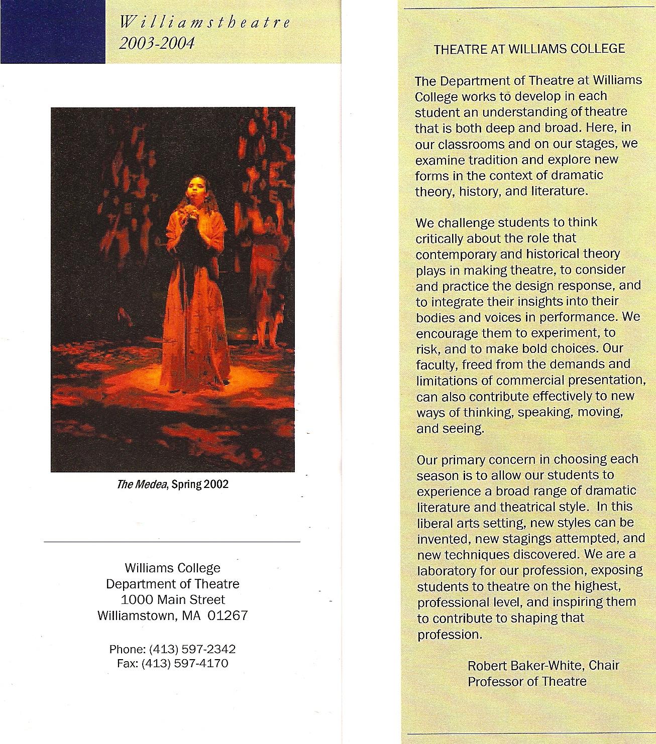 Williamstheatre cover with Medea