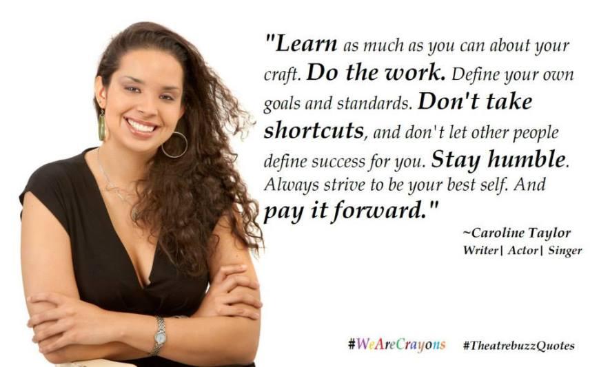 Caroline Taylor quote meme. Courtesy the Trinidad & Tobago Performing Arts Network