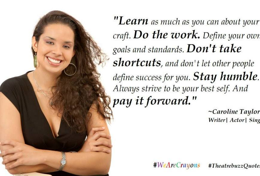 Caroline Taylor quote meme. Courtesy the Trinidad & Tobago Performing Arts Network