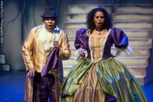 Caroline Taylor and David Stephens as the Thénardiers (Les Misérables, 2014 Trinidad)