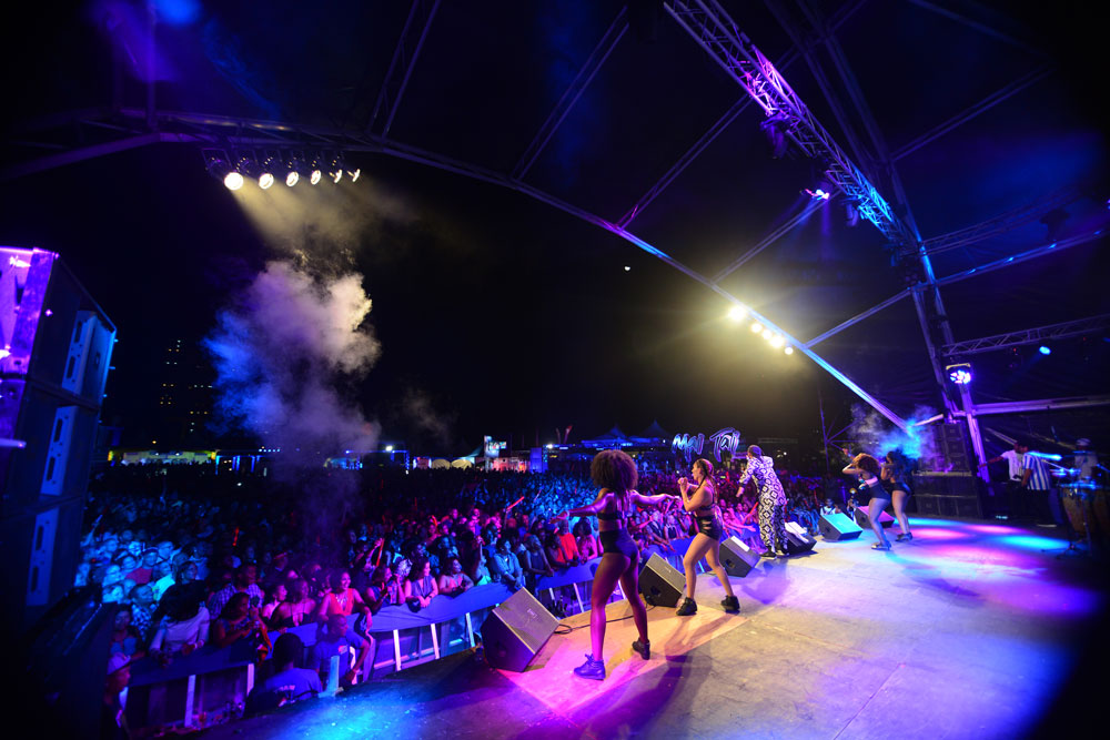 Machel Montano performs at CIC Fete. Photo by Jermaine Cruickshank, courtesy Machel Montano, via discovertnt.com